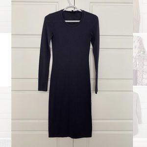 Wilfred Free Navy Bodycon Dress with Slit